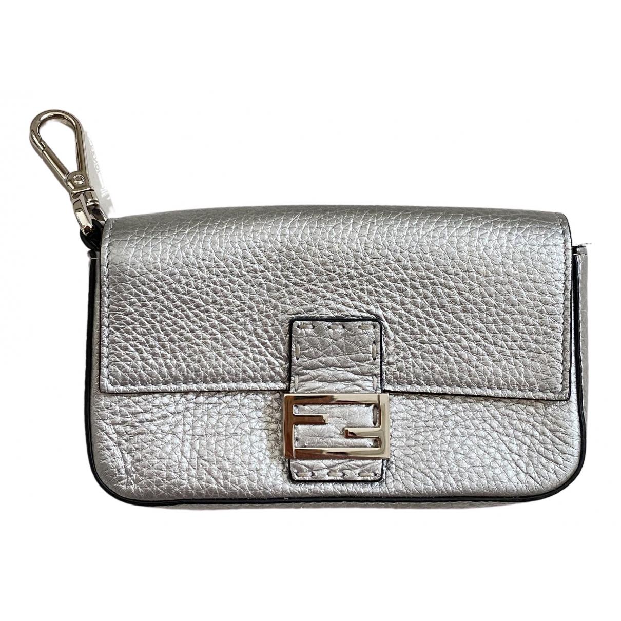 Fendi \N Silver Leather bag for Men \N