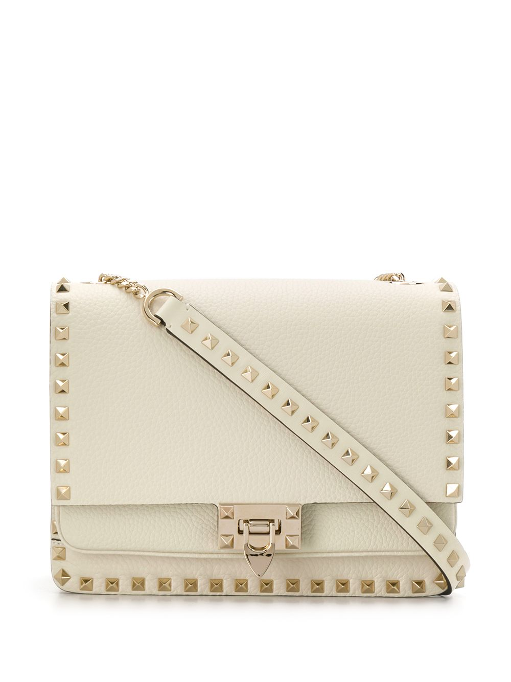 Rockstud Leather Shoulder Bag