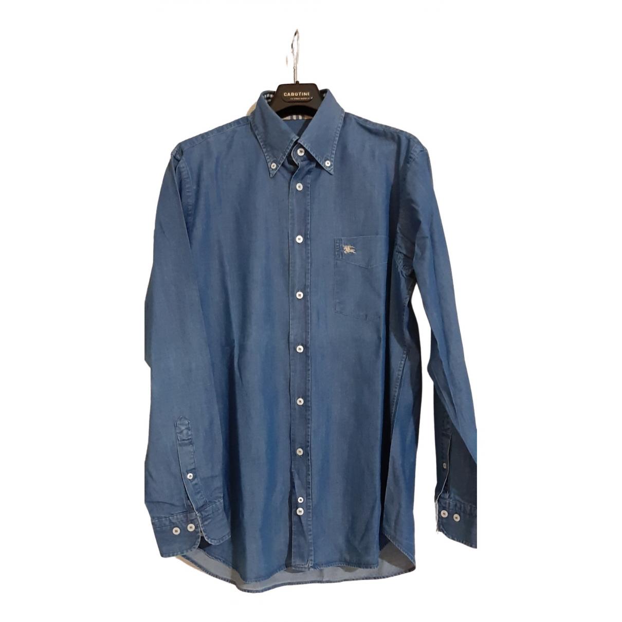Burberry \N Blue Cotton Shirts for Men L International