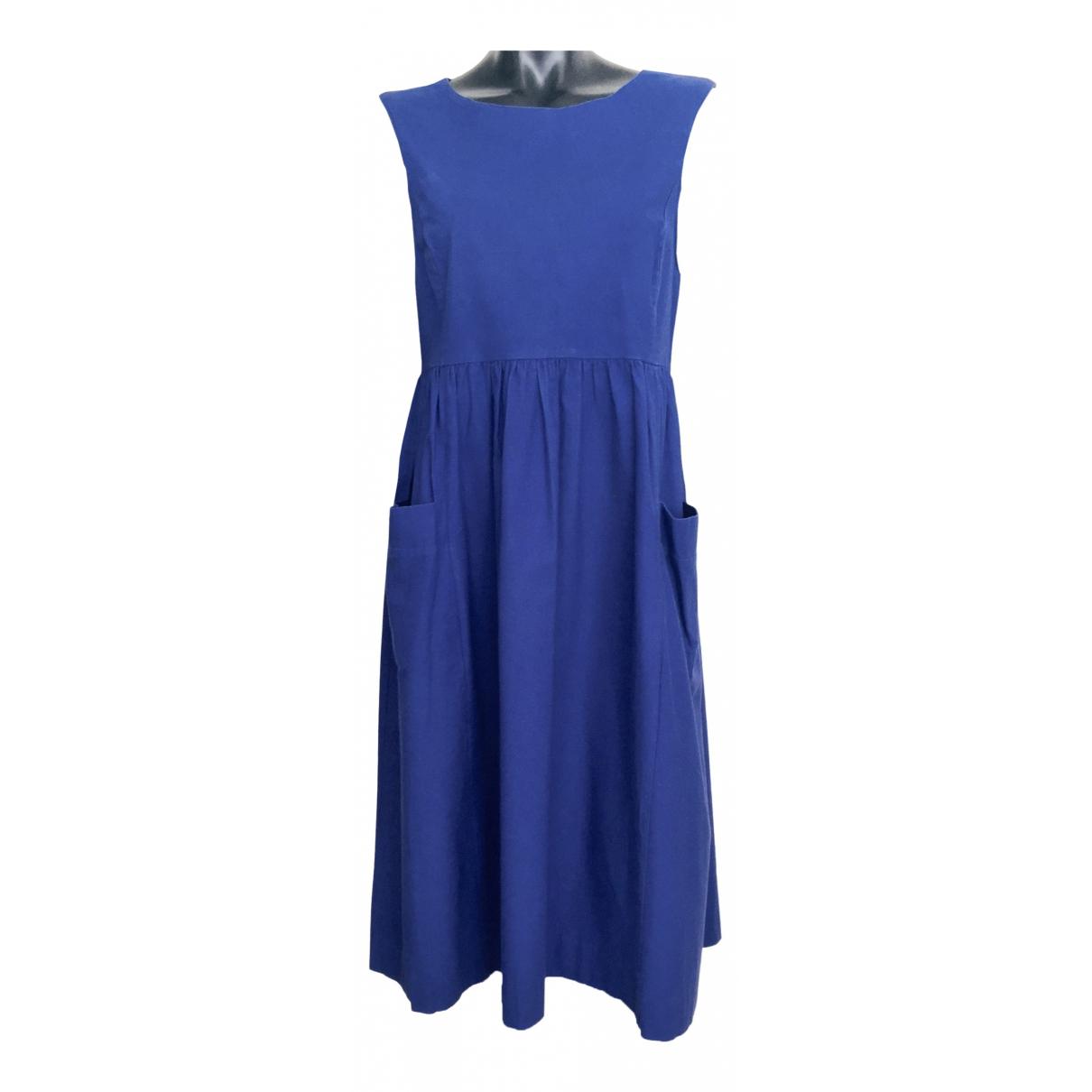 Non Signé / Unsigned \N Blue Cotton dress for Women 14 UK