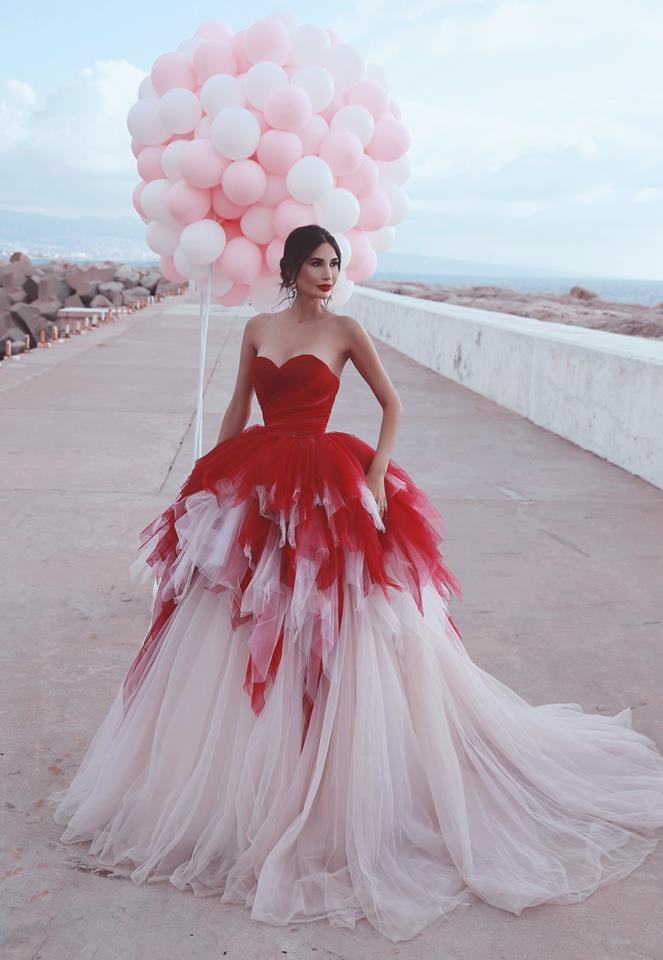 2021 cariño Puffy rojo tul vestidos de noche formales atractivos   Vestidos de fiesta sin mangas con gradas baratos en linea