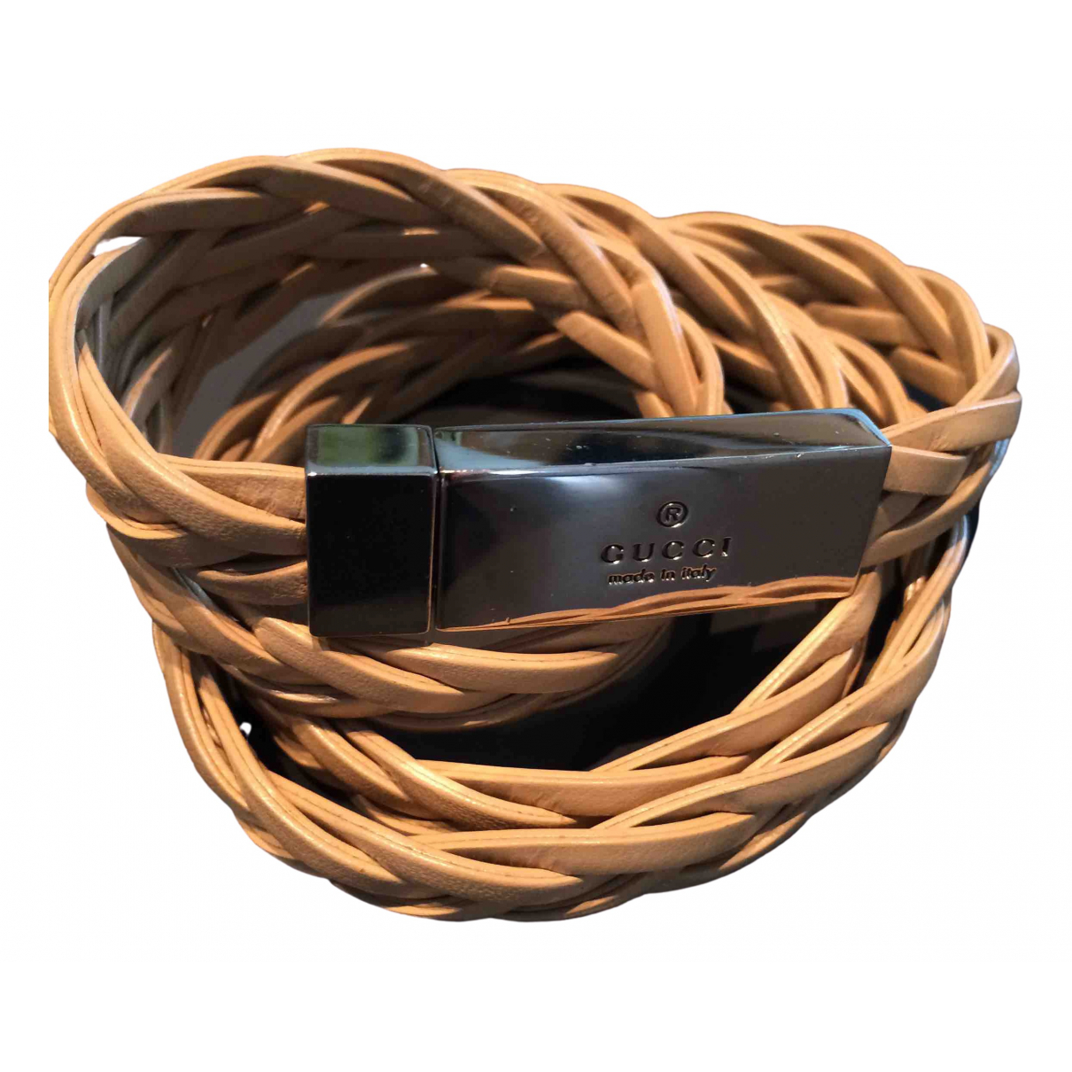 Gucci \N Beige Leather belt for Women 80 cm