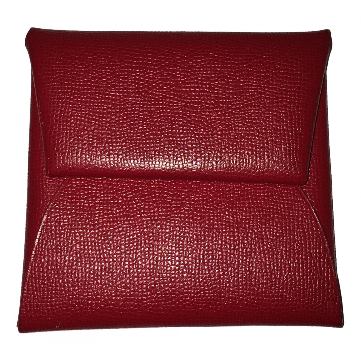 Hermes Bastia Kleinlederwaren in  Rot Leder