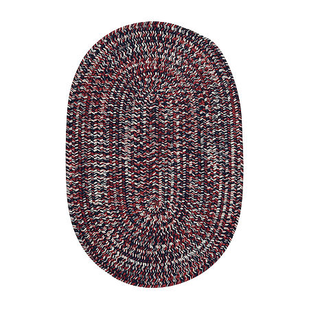 Colonial Mills Kelly Braided Oval Reversible Indoor/Outdoor Rugs, One Size , Red