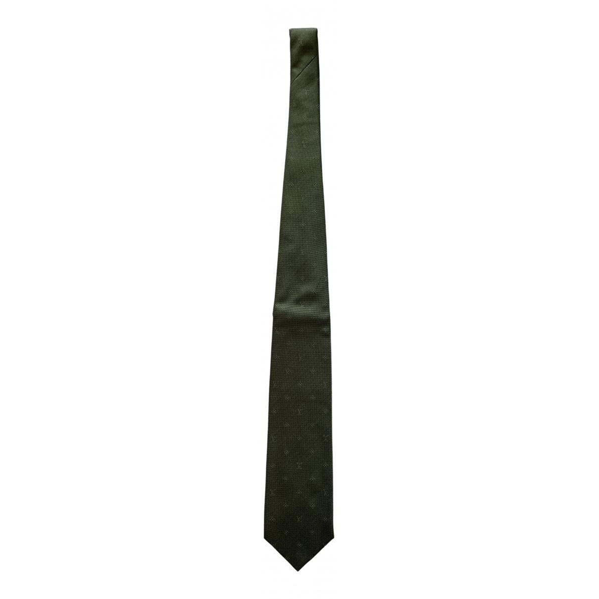 Louis Vuitton - Cravates   pour homme en soie - vert