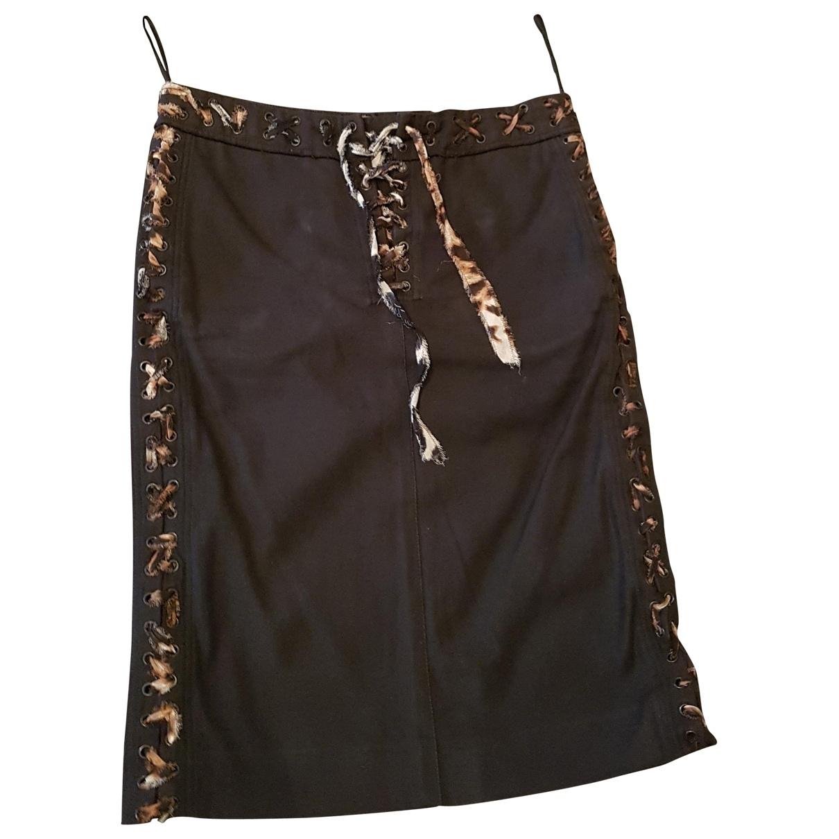 Yves Saint Laurent \N Black Cotton skirt for Women 36 FR