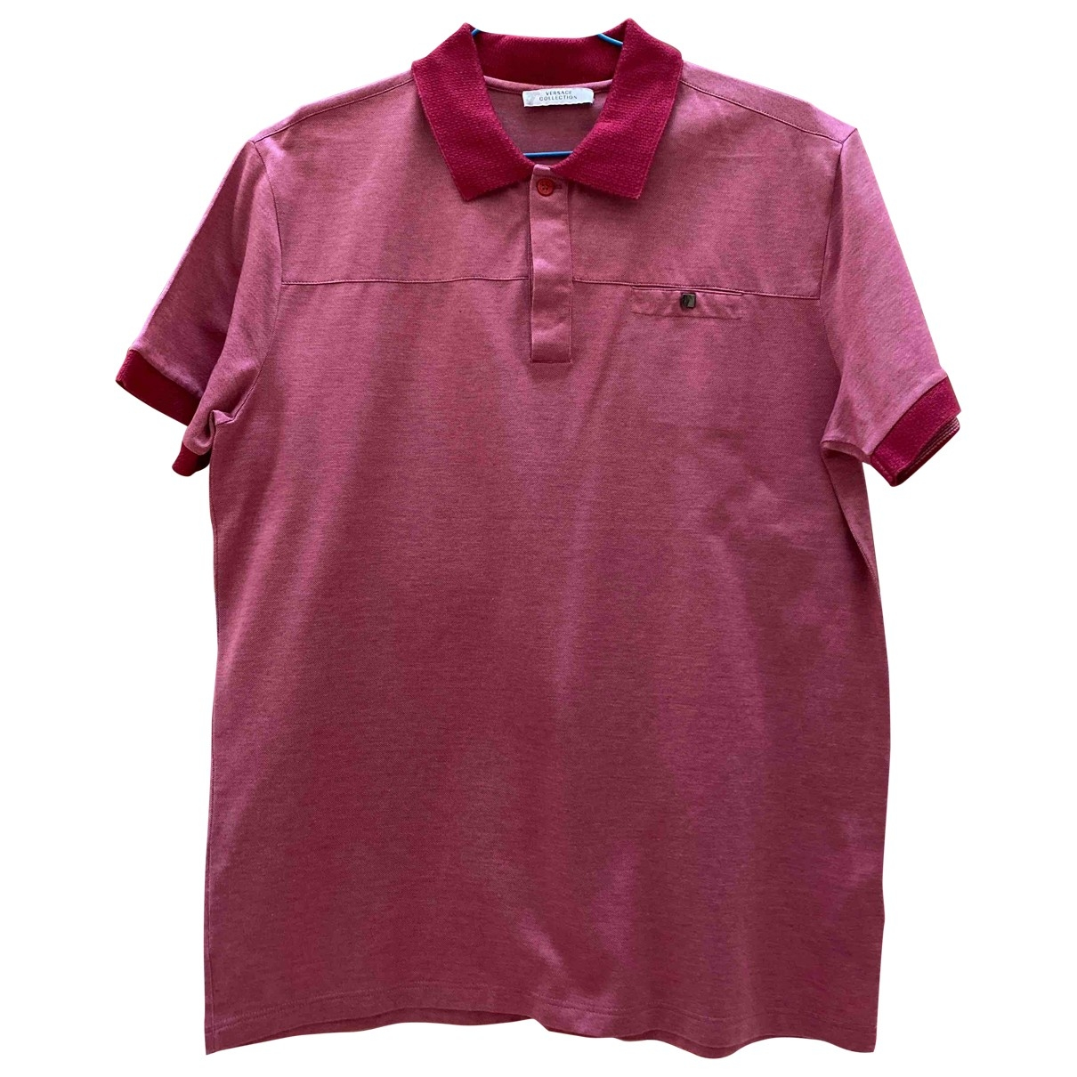 Versace - Polos   pour homme en coton - rose