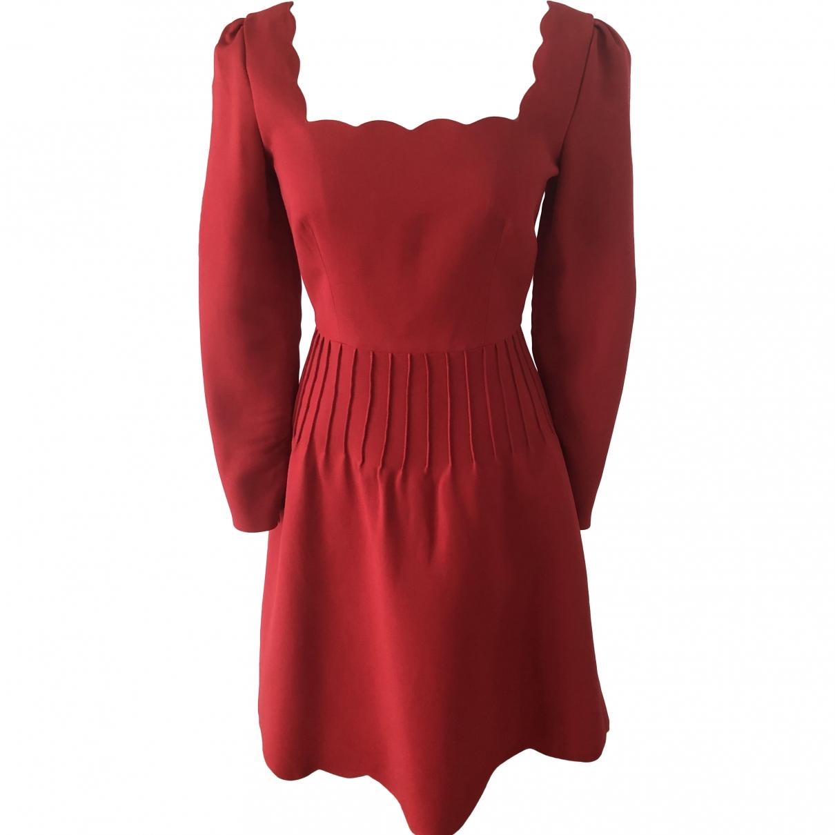 Valentino Garavani \N Red Wool dress for Women 44 IT