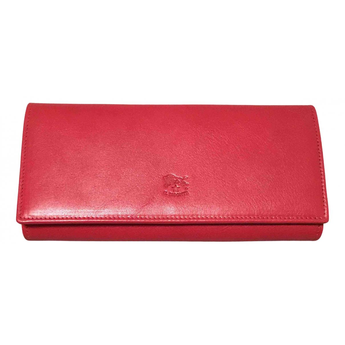 Il Bisonte \N Portemonnaie in  Rot Leder