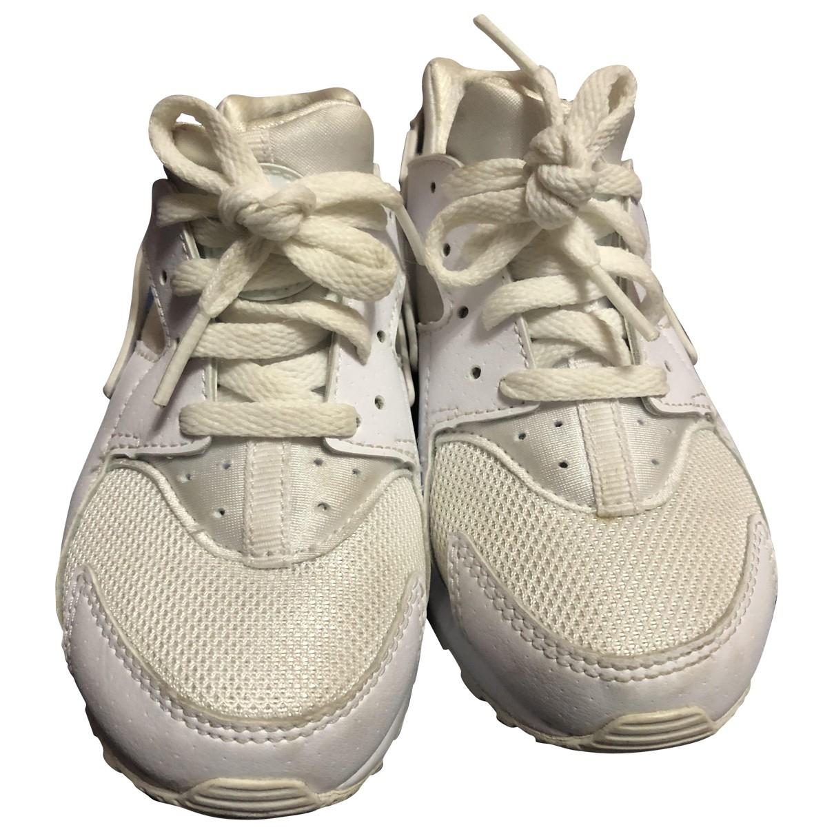 Nike - Baskets Huarache pour enfant en toile - blanc