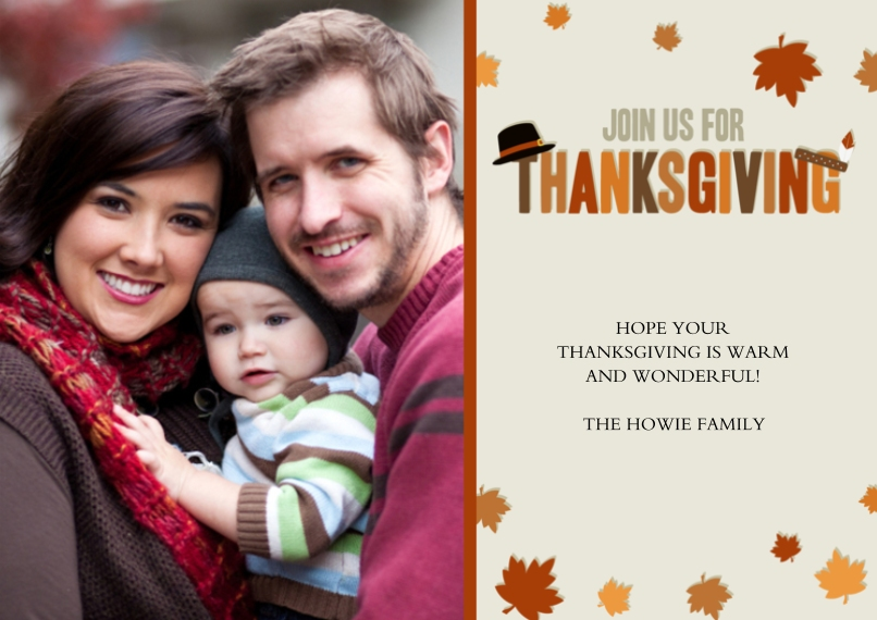 Thank You Cards 5x7 Cards, Premium Cardstock 120lb with Elegant Corners, Card & Stationery -Bountiful Thanksgiving