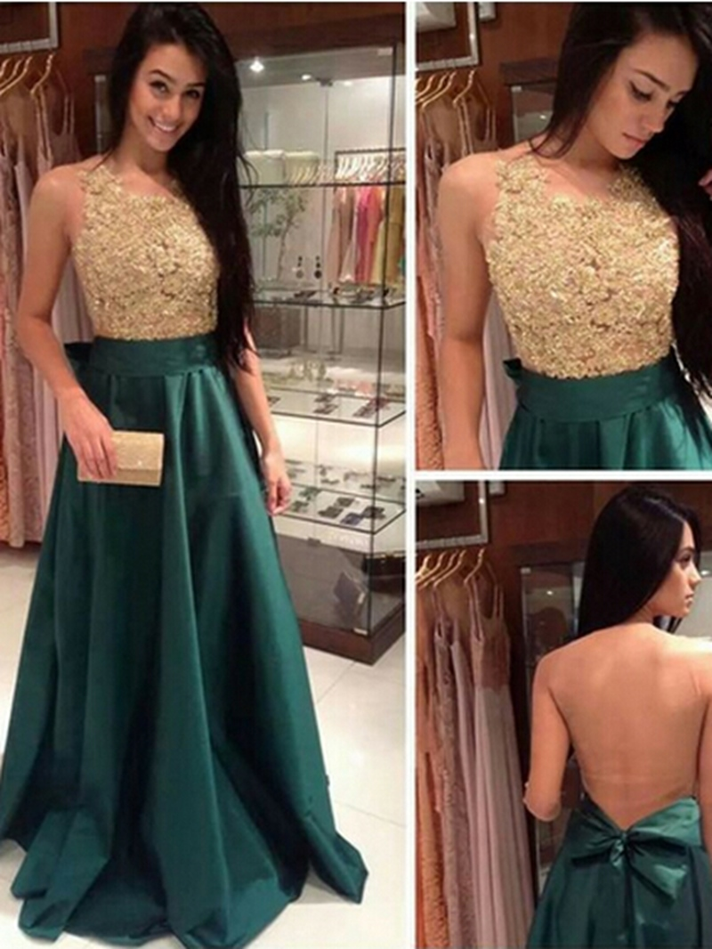 Eridress Elegant A-Line Bowknot Sashes Evening Dress