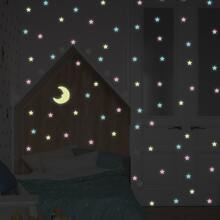100pcs Moon & Star Wall Sticker