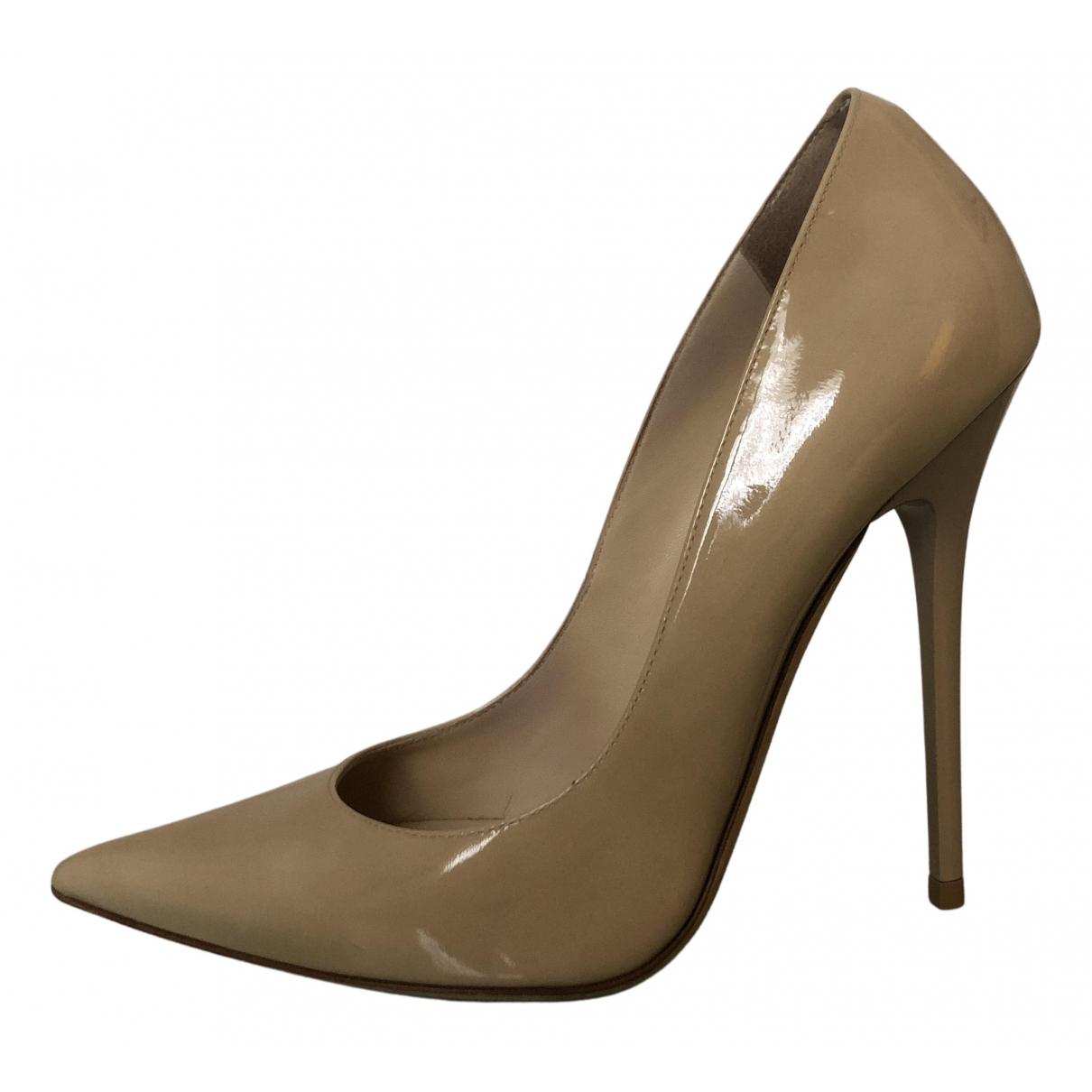 Jimmy Choo Anouk Beige Patent leather Heels for Women 36.5 EU