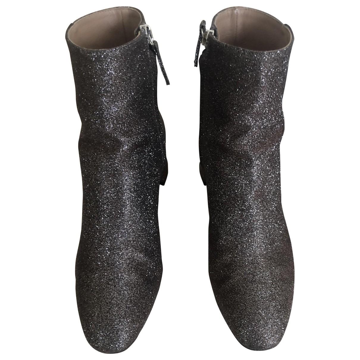 Aquazzura - Boots   pour femme en a paillettes - metallise