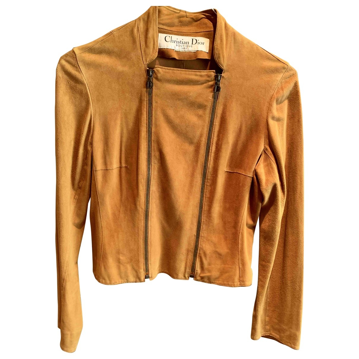 Dior \N Camel Suede Leather jacket for Women 42 IT