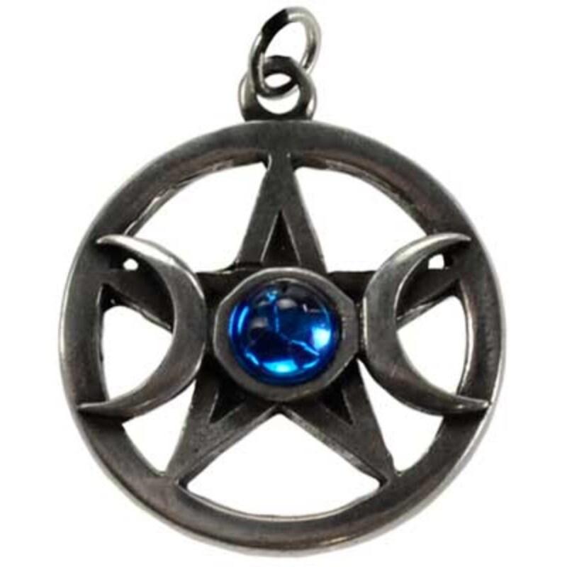 Pentagram & Moons pewter