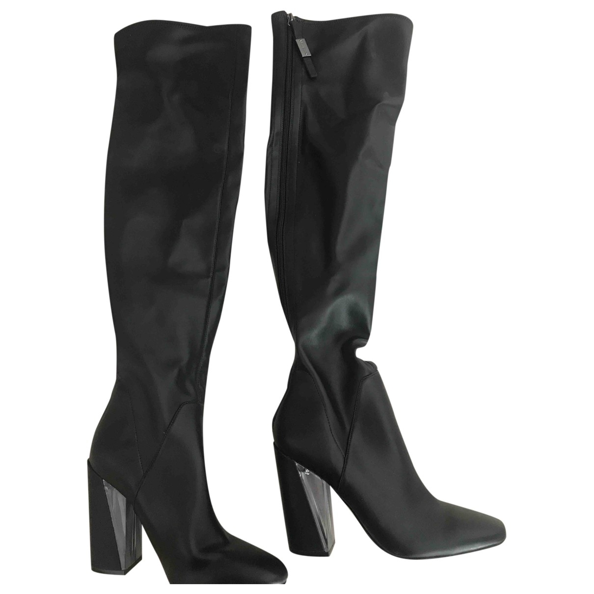 Guess \N Black Leather Boots for Women 36 EU