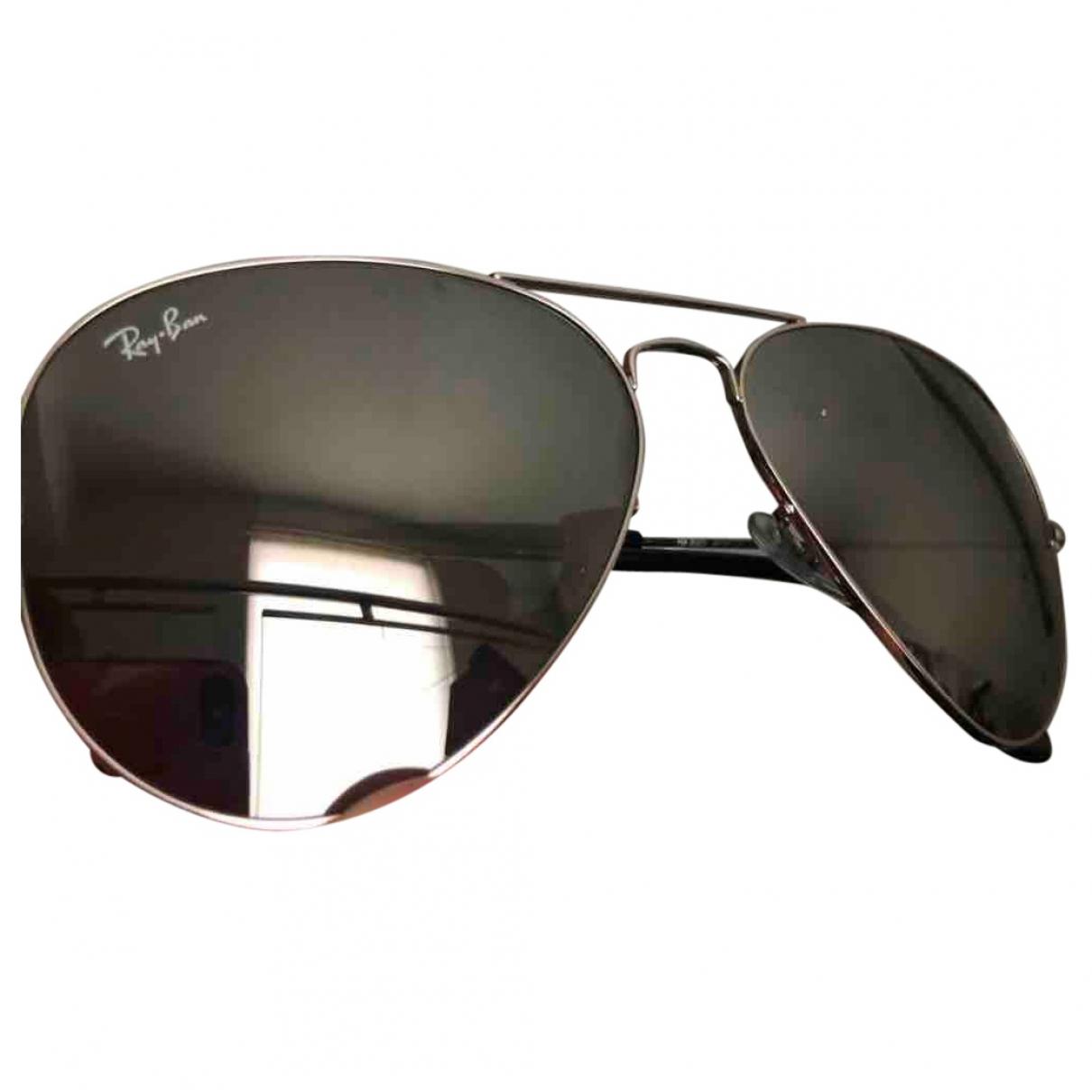 Ray-ban Aviator Silver Metal Sunglasses for Women \N