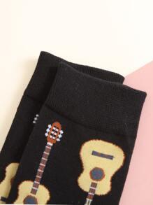 Guitar Pattern Socks