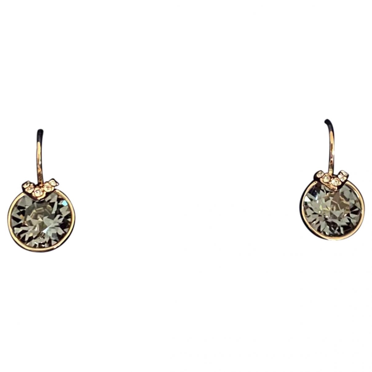 Swarovski - Boucles doreilles   pour femme en cristal - gris