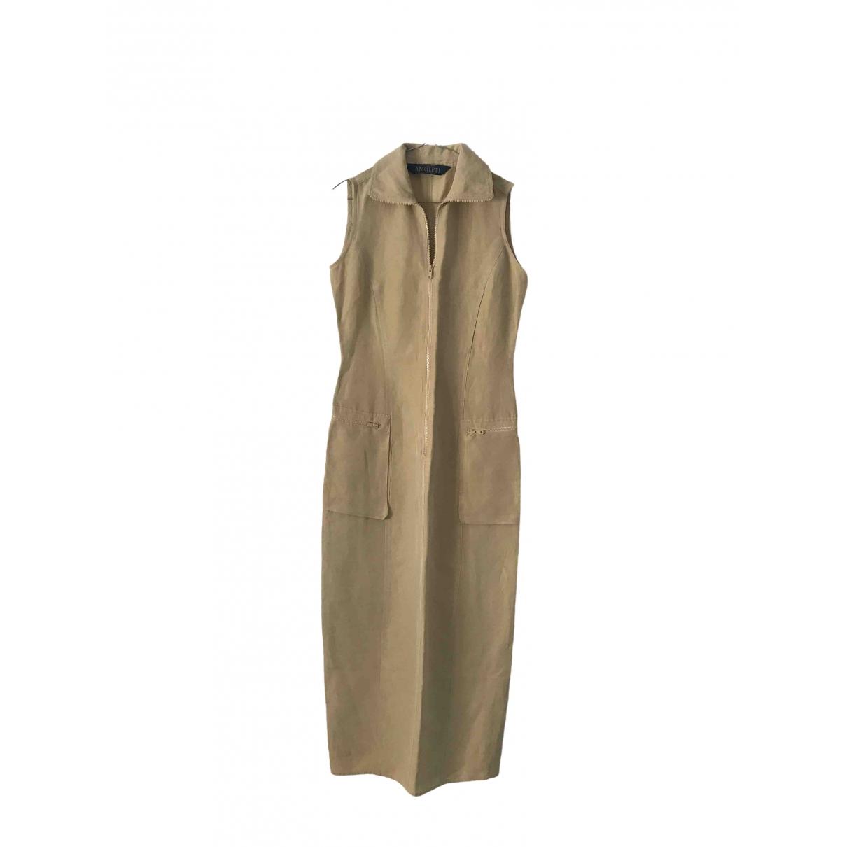 Non Signé / Unsigned \N Linen dress for Women 40 IT