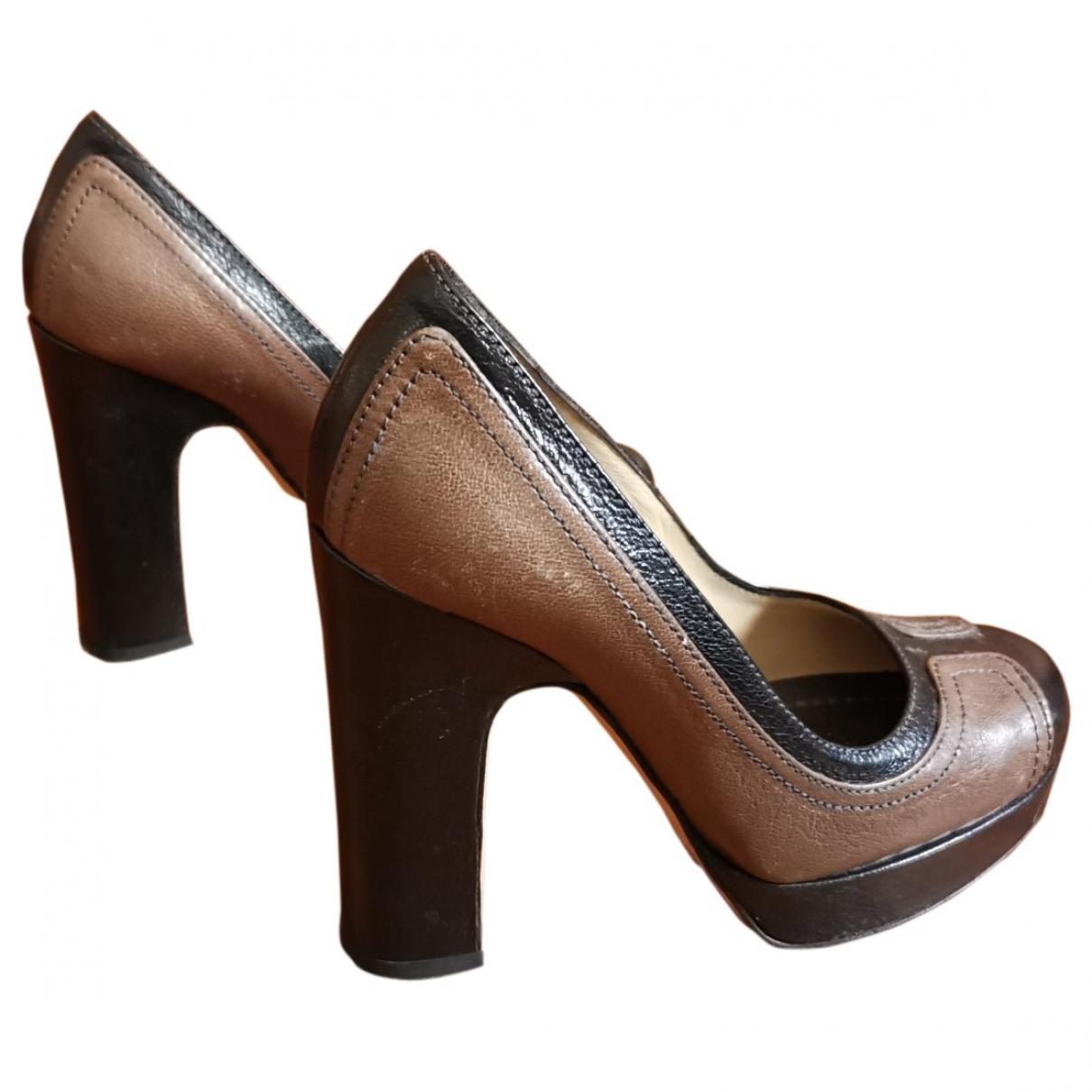 D&g \N Brown Leather Heels for Women 35 EU