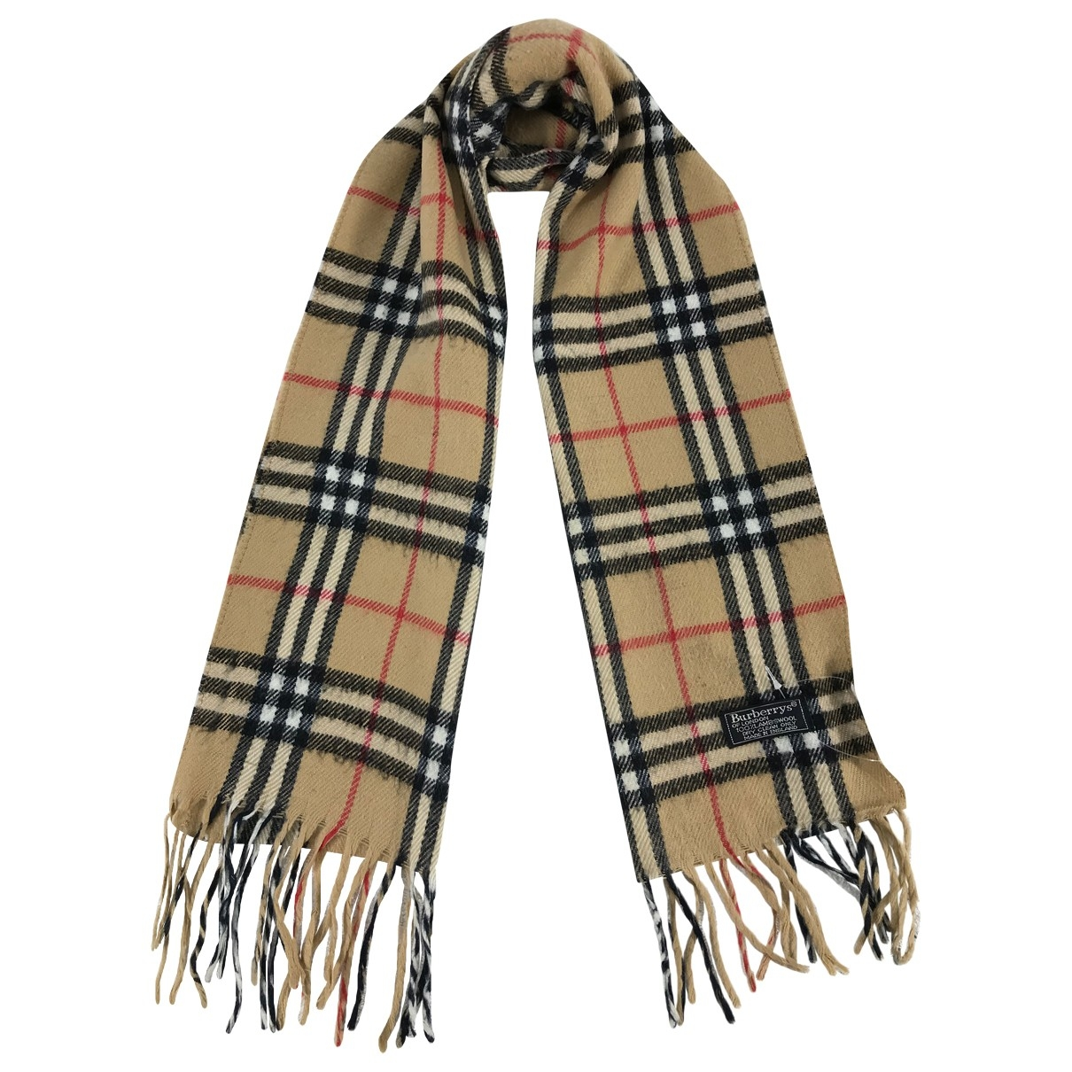 Burberry \N Schal in  Beige Wolle