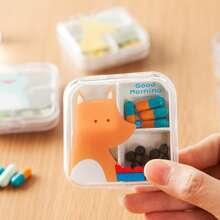 1 Stueck Pille Aufbewahrungsbox mit zufaelligem Muster