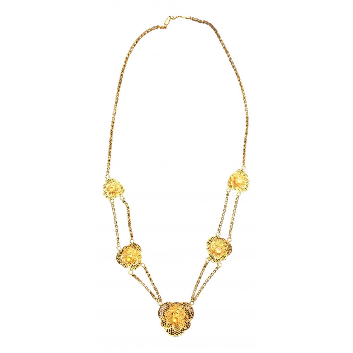 - Sautoir Motifs Floraux pour femme en or jaune - dore