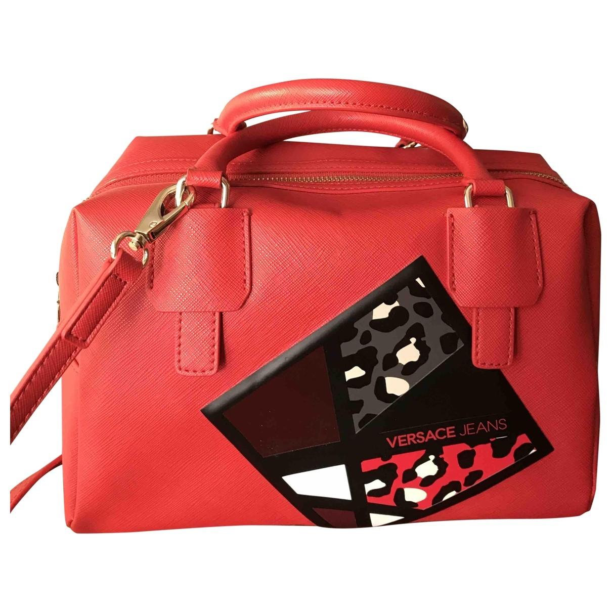 Versace Jean - Sac a main   pour femme en cuir - rouge