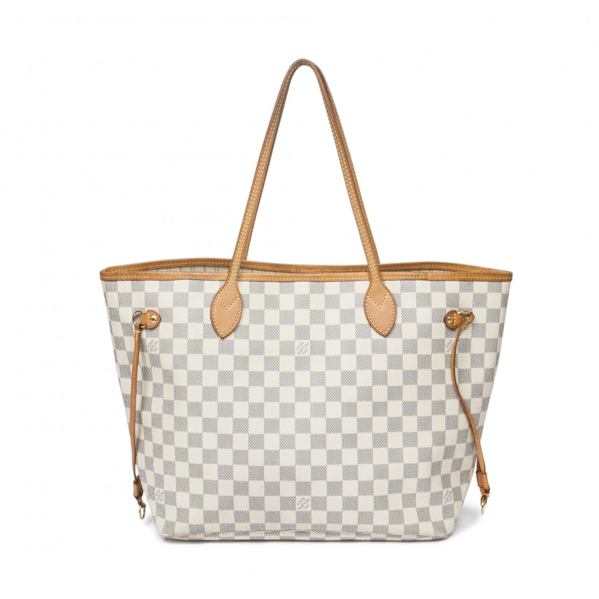 Louis Vuitton Neverfull Handtasche in  Beige Leder