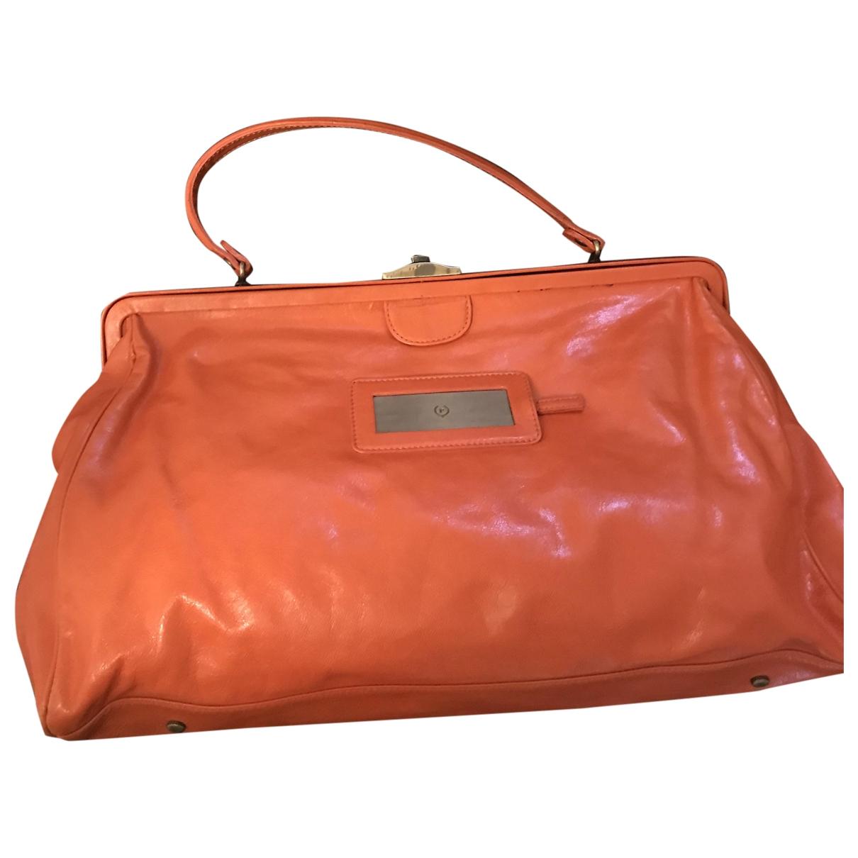 Pollini \N Handtasche in  Orange Leder