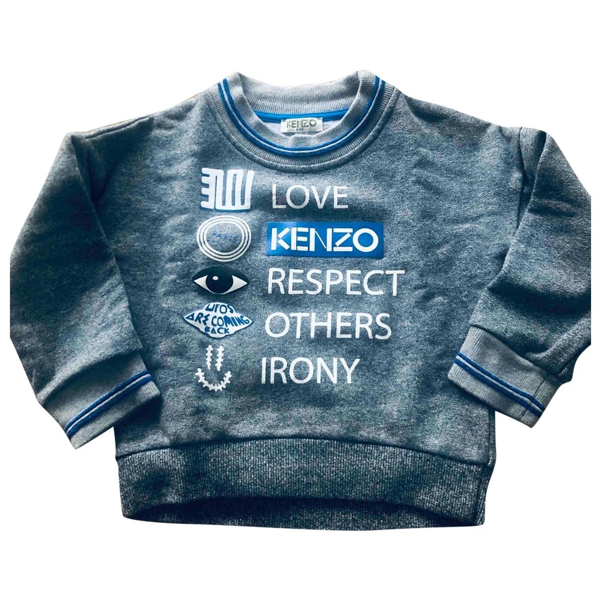 Kenzo - Pull   pour enfant en coton - gris