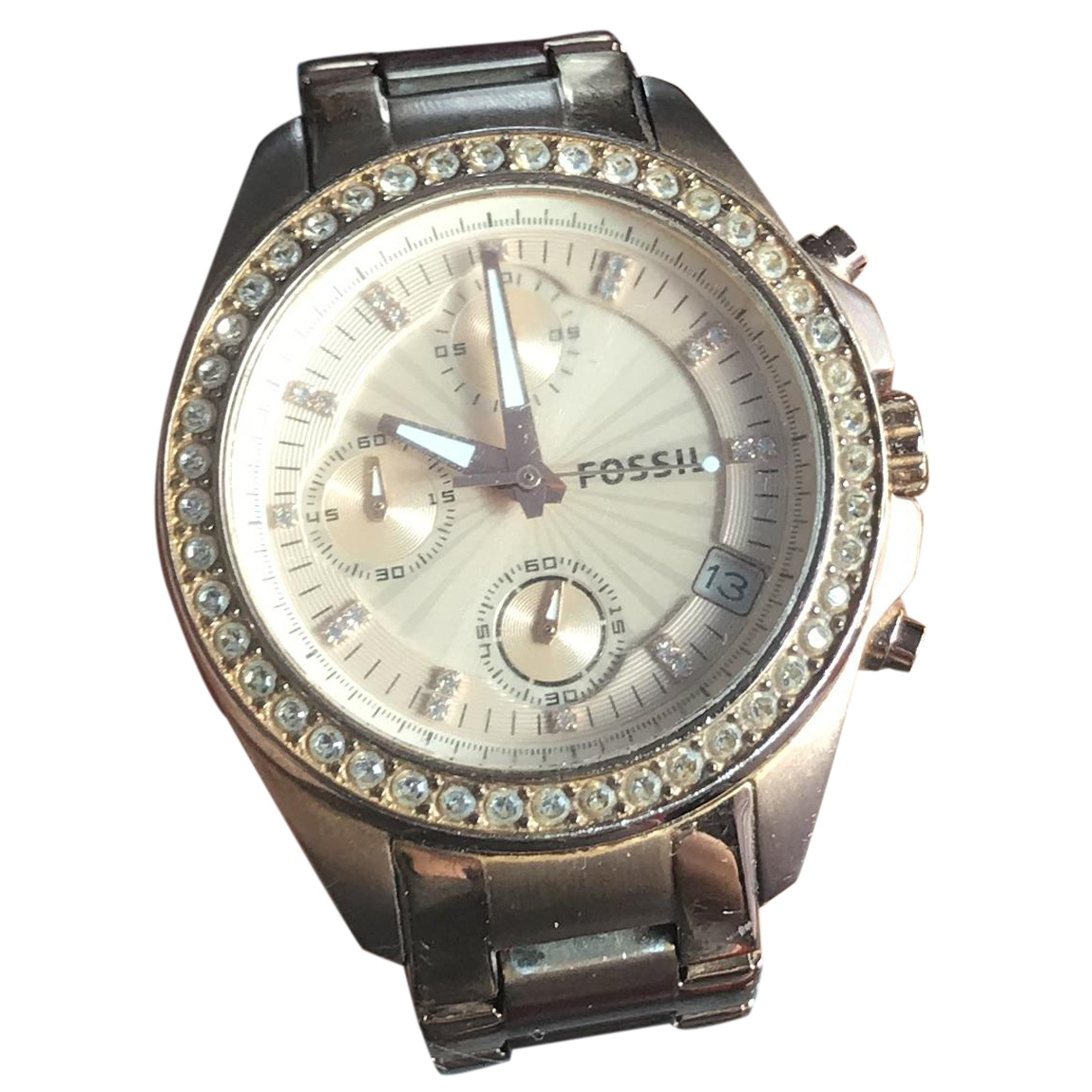 Fossil \N Uhr in  Gold Stahl