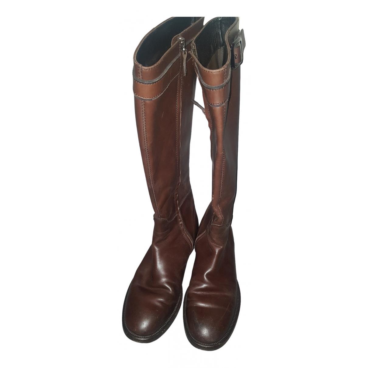 Tod's - Bottes.Boots   pour homme en cuir - marron