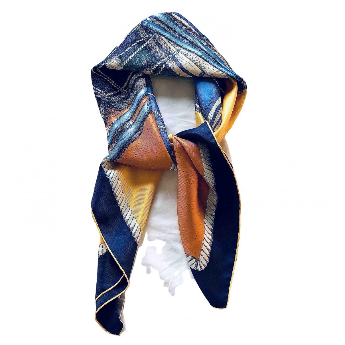 Fornasetti - Carre   pour femme en soie - bleu