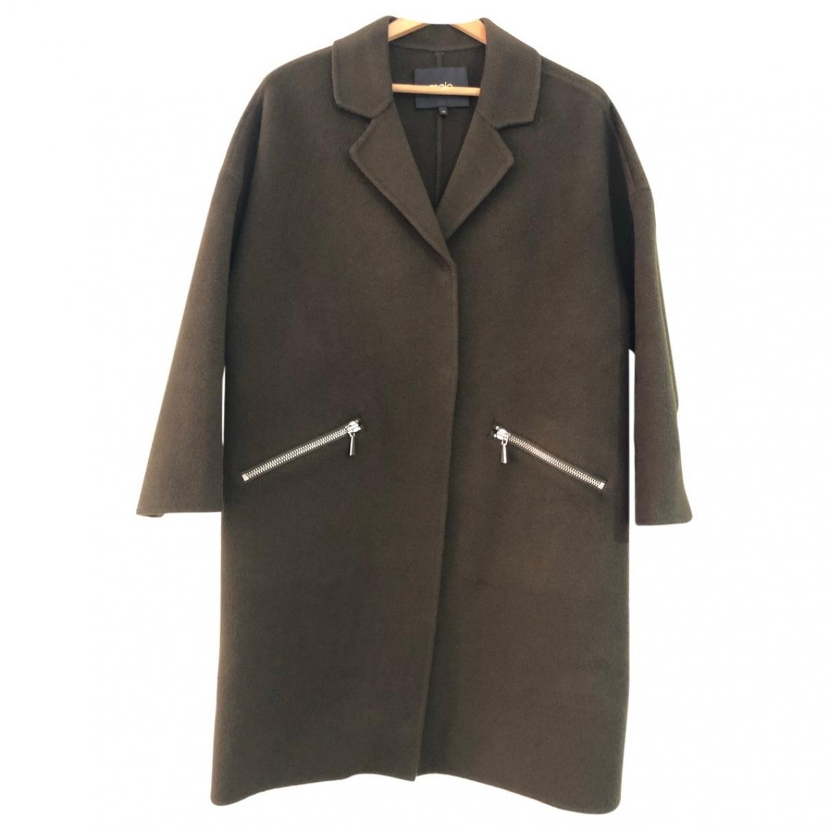 Maje \N Khaki Wool coat for Women 38 FR