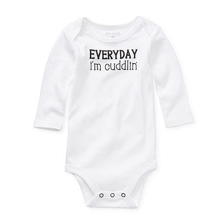 Okie Dokie Baby Unisex Bodysuit, 18 Months , White