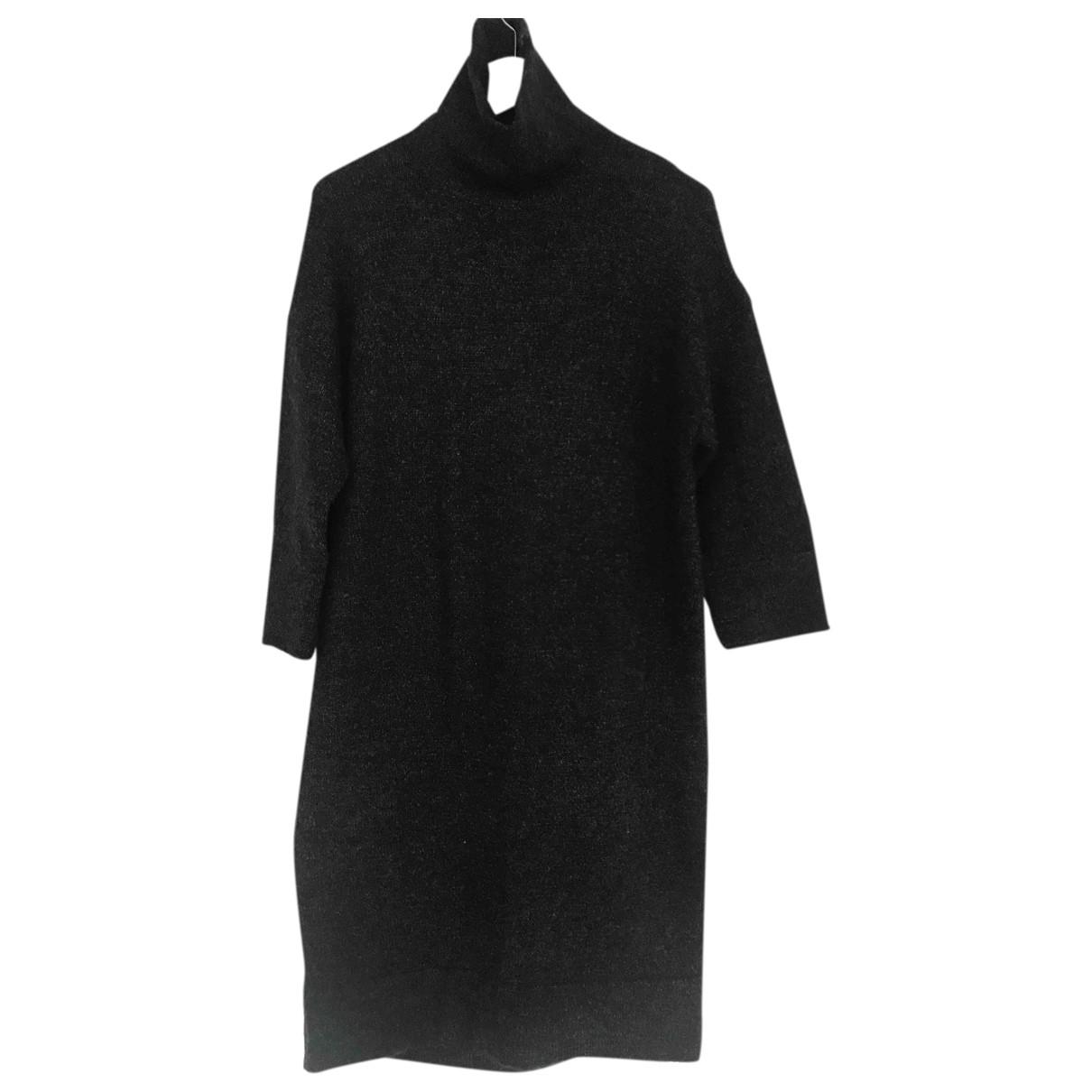 Zara \N Kleid in  Grau Wolle