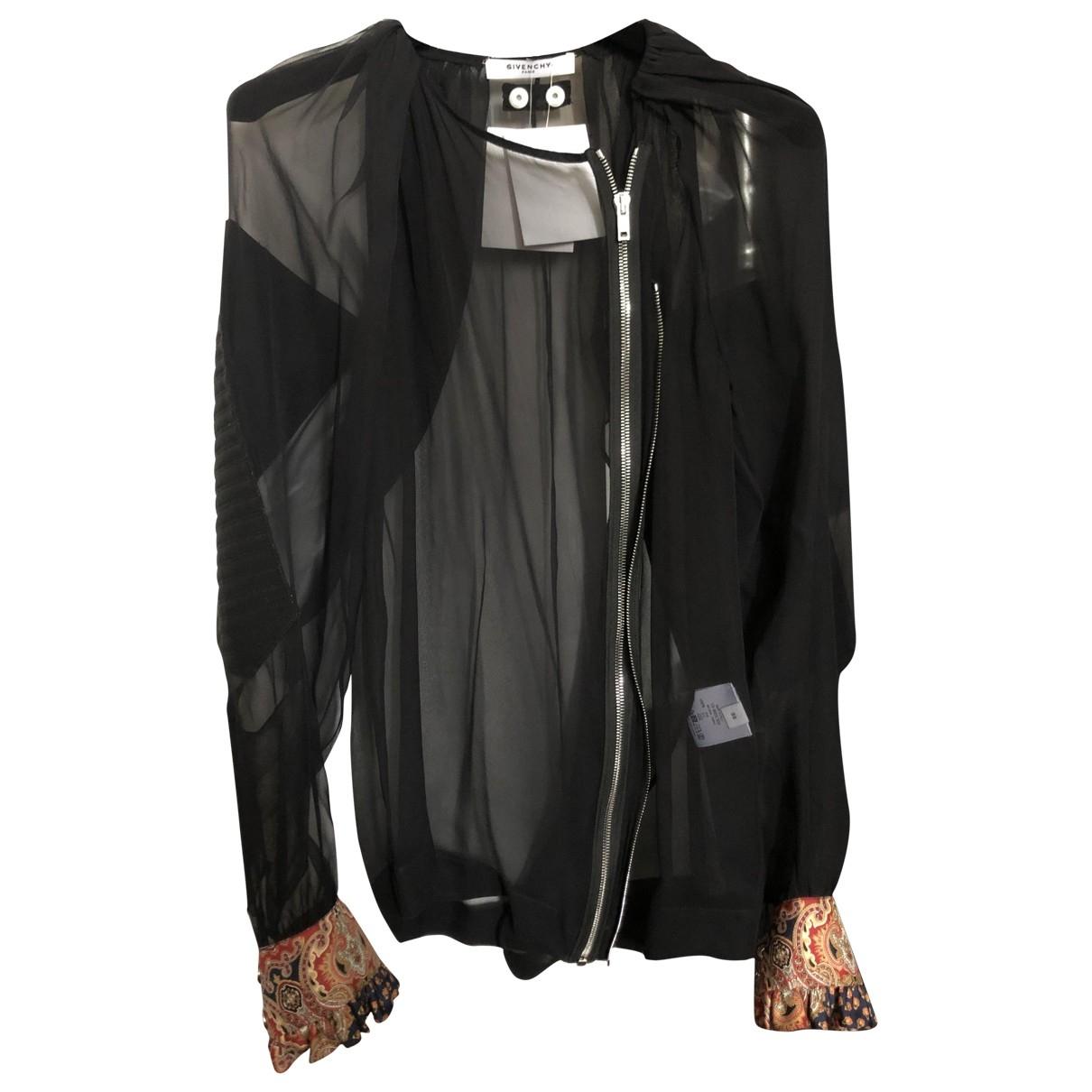 Givenchy - Blouson   pour femme en soie - noir