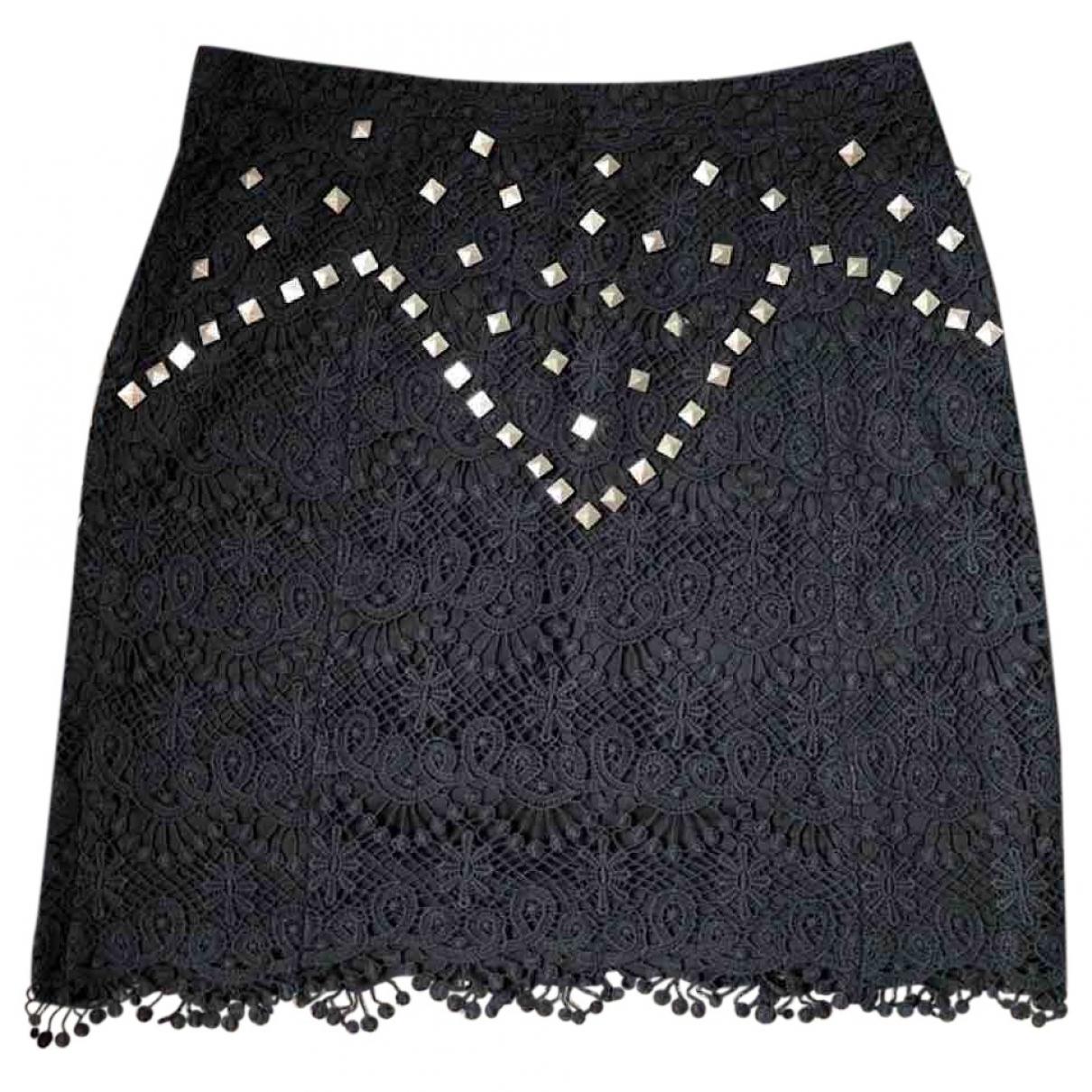 Dress Gallery \N Black Cotton skirt for Women 38 FR
