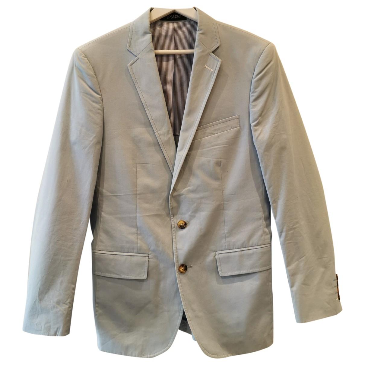 Non Signe / Unsigned Oversize Jacke in  Blau Baumwolle