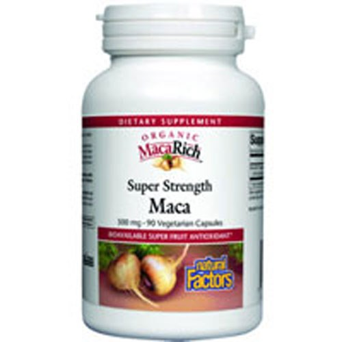 MacaRich Super Strength Power Maca With Ginseng 90 Veg Caps by Natural Factors