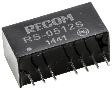 Recom RS 2W Isolated DC-DC Converter Through Hole, Voltage in 4.5 → 9 V dc, Voltage out 12V dc