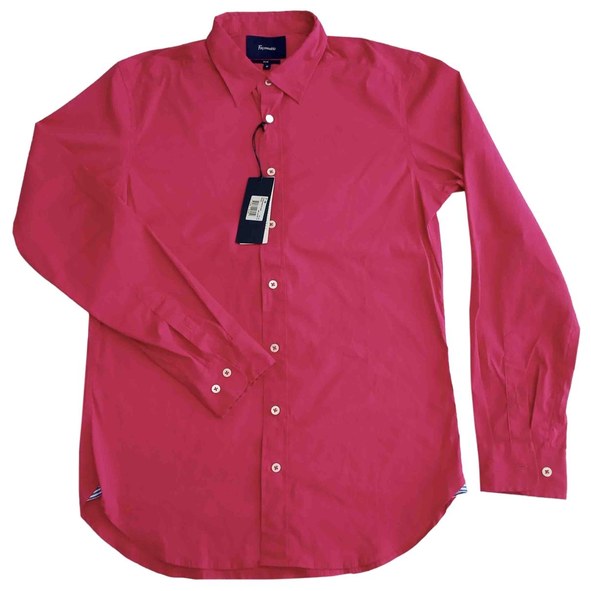 Faconnable - Chemises   pour homme en coton - rose