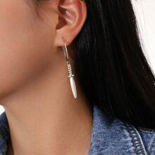 Sword Design Drop Earrings
