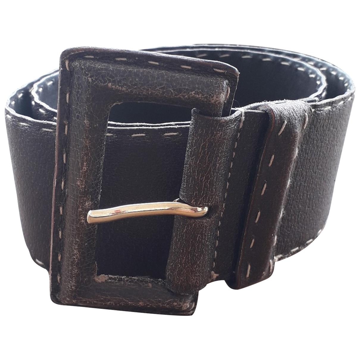 Max Mara \N Brown Leather belt for Women 95 cm