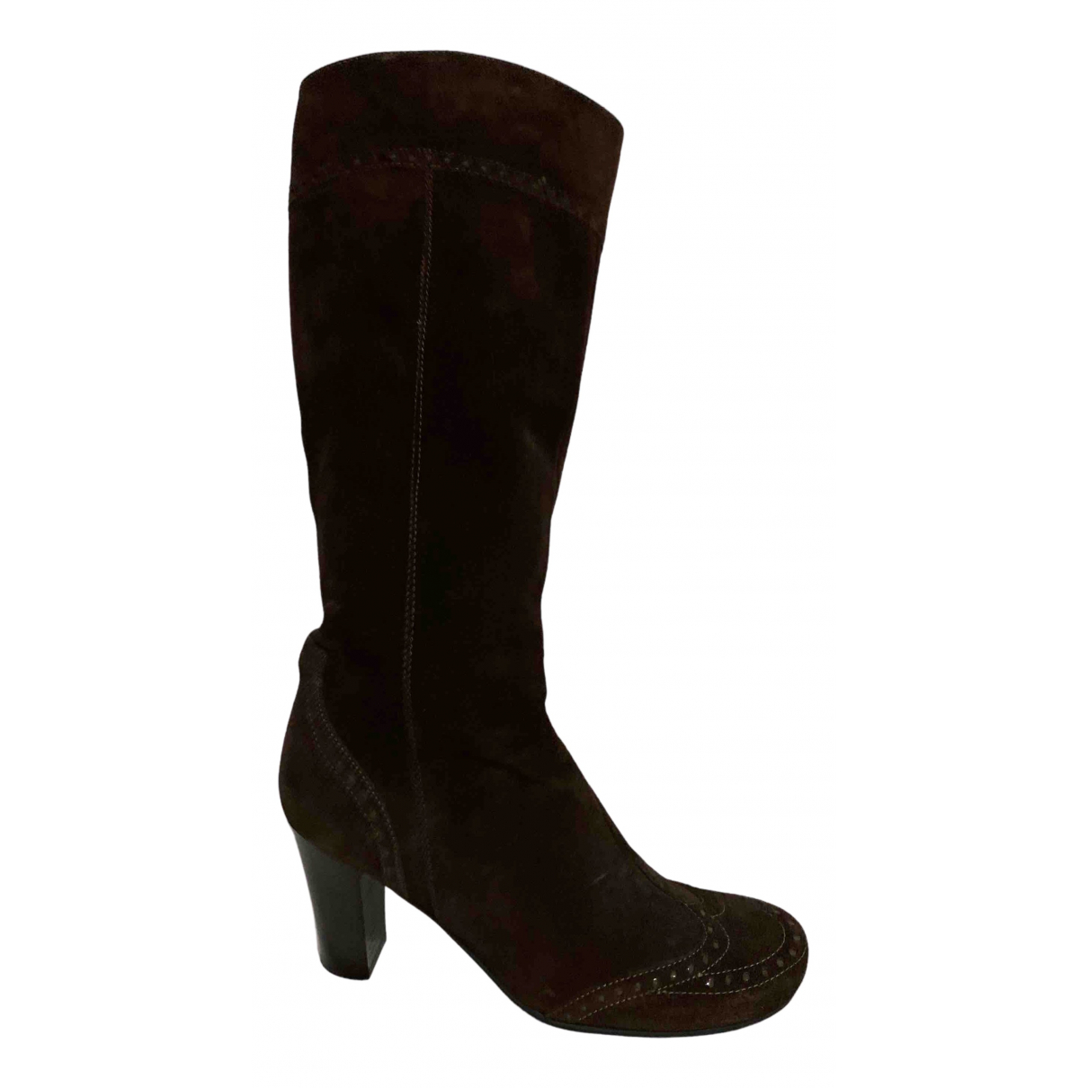 Janet & Janet N Brown Suede Boots for Women 36 EU
