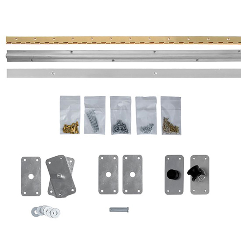 Bi-Fold Bookcase Door With Valance Hardware Kit